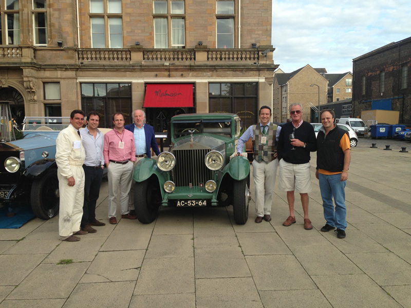Edimburgo com David Richards e Alastair Caldwell (ex-Team Manager da F1)...