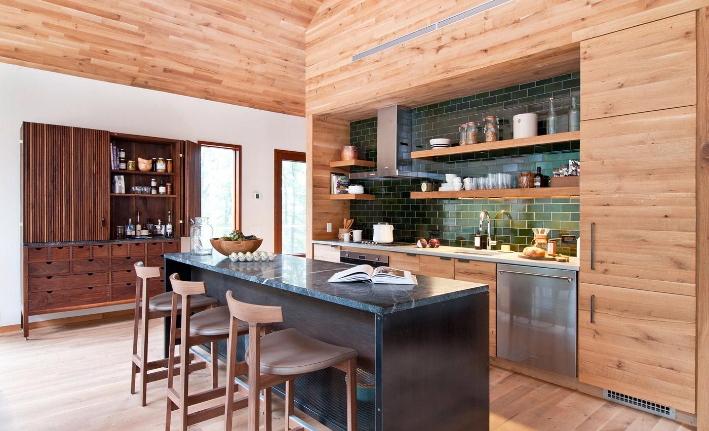 BR Breakfast Bar Kitchen Island Wood Glass House Kerhonkson