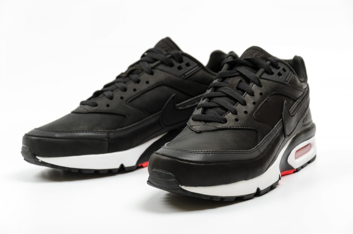 nike air max bw premium black leather bons rapazes. Black Bedroom Furniture Sets. Home Design Ideas