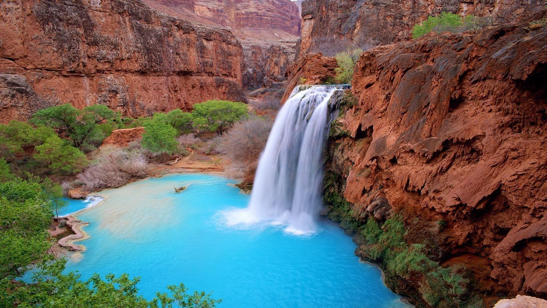 piscinas naturais mais incríveis do mundo - Havasu falls