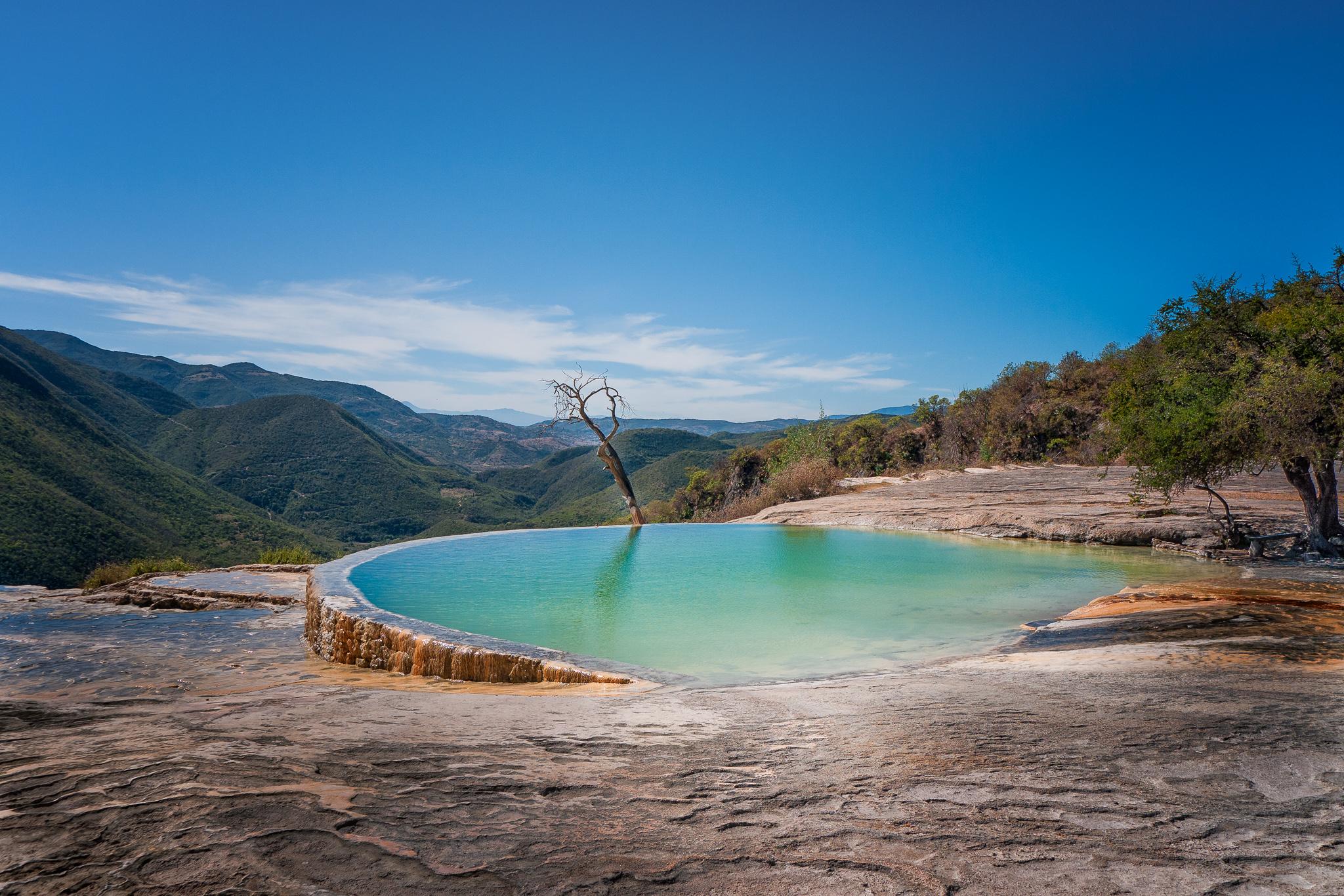 piscinas naturais mais incríveis do mundo - Hierve El Agua, Oaxaca, Mexico