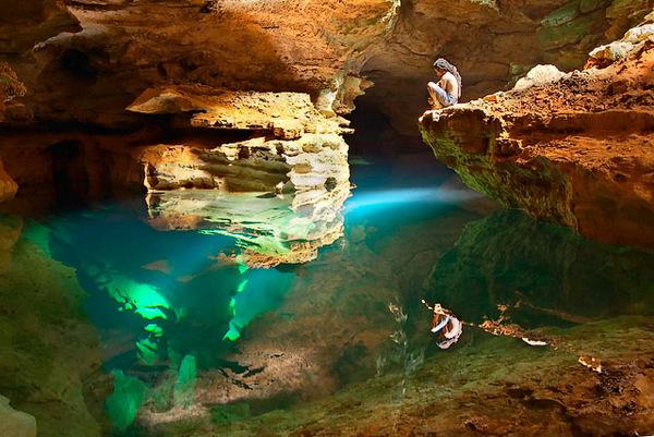 piscinas naturais mais incríveis do mundo - Poço Azul Brasil