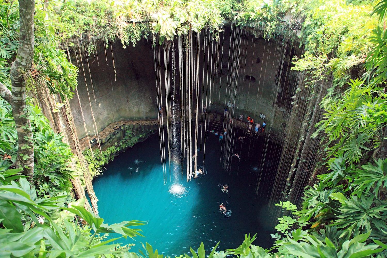 piscinas naturais mais incríveis do mundo - cenote ik-kil