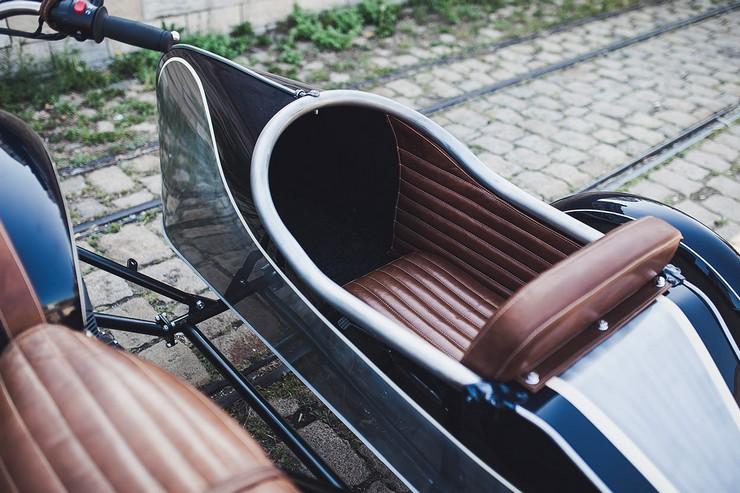 Triumph Boneville com sidecar