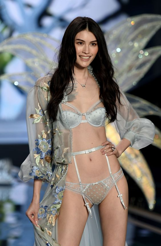Model walks the runway during the 2014 Victoria's Secret Fashion Show at Earl's Court Exhibition Centre on December 2, 2014 in London, England.