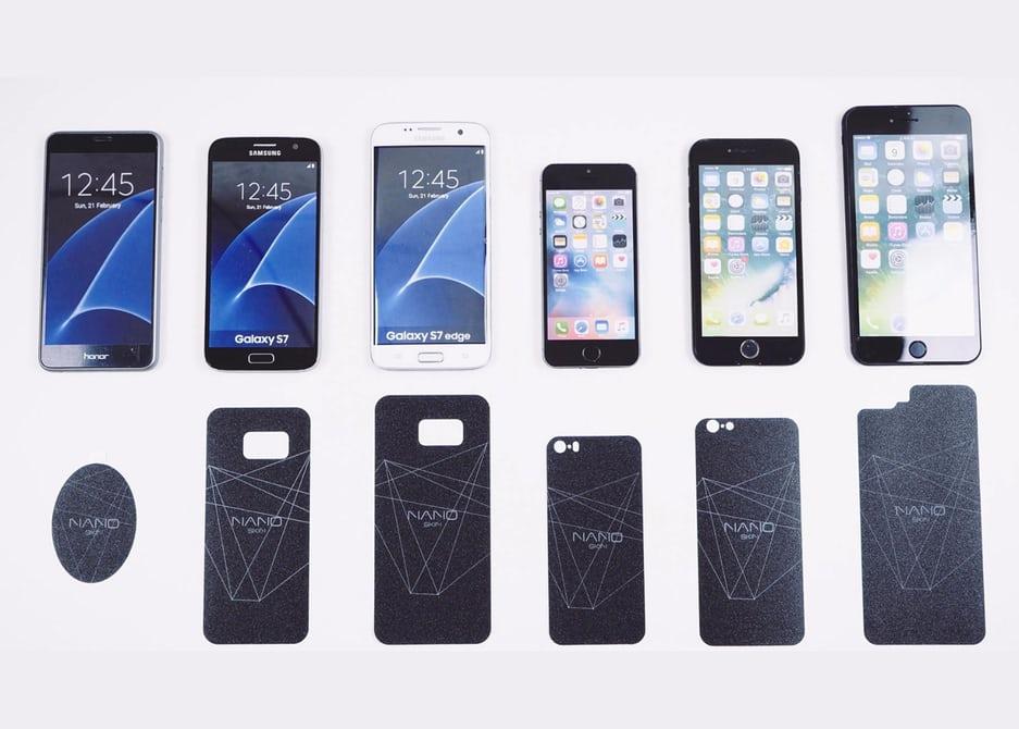 autocolante que se cola no smartphone e lhe dá mais bateria