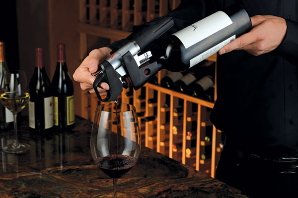 beber vinho sem nunca abrir a garrafa