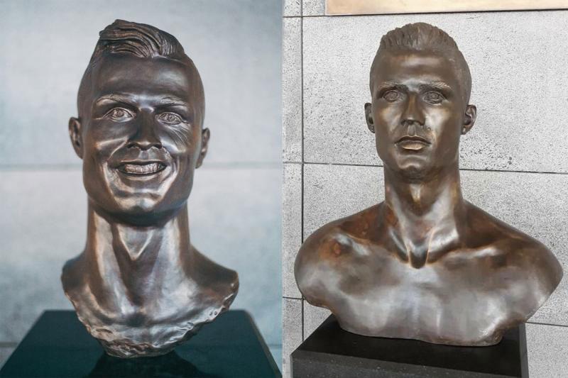 busto de Cristiano Ronaldo no aeroporto da Madeira