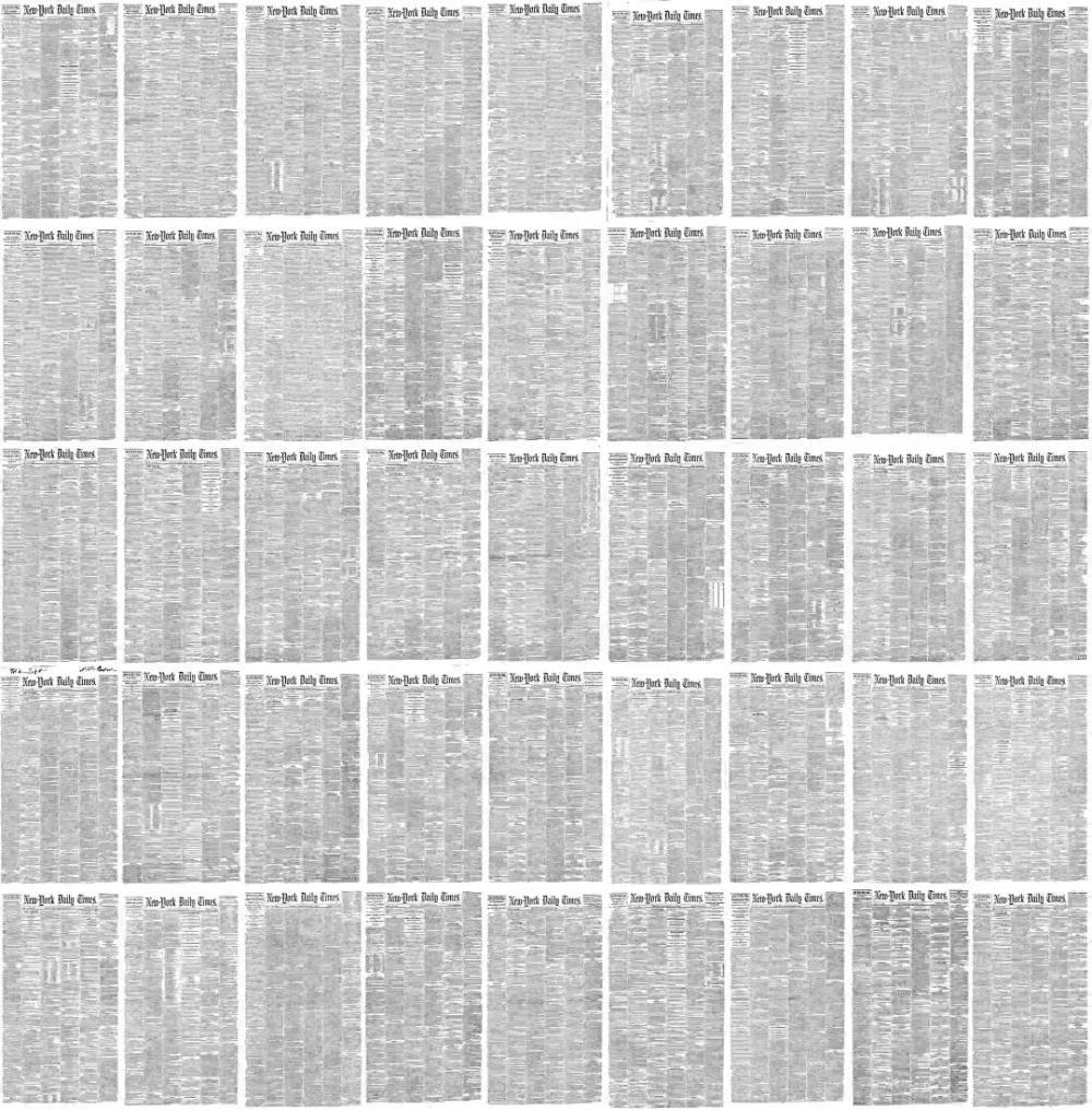 timelapse com todas as Capas do New York Times