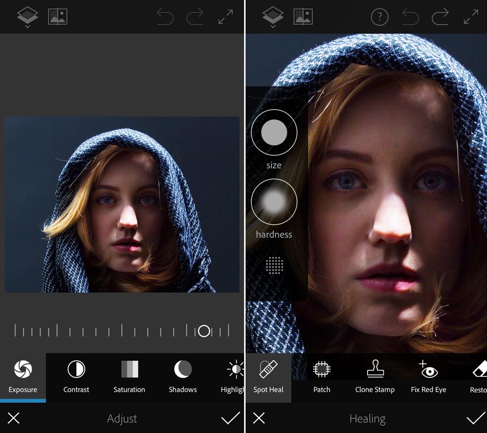 melhores aplicações de edição de fotos - Photoshop Fix