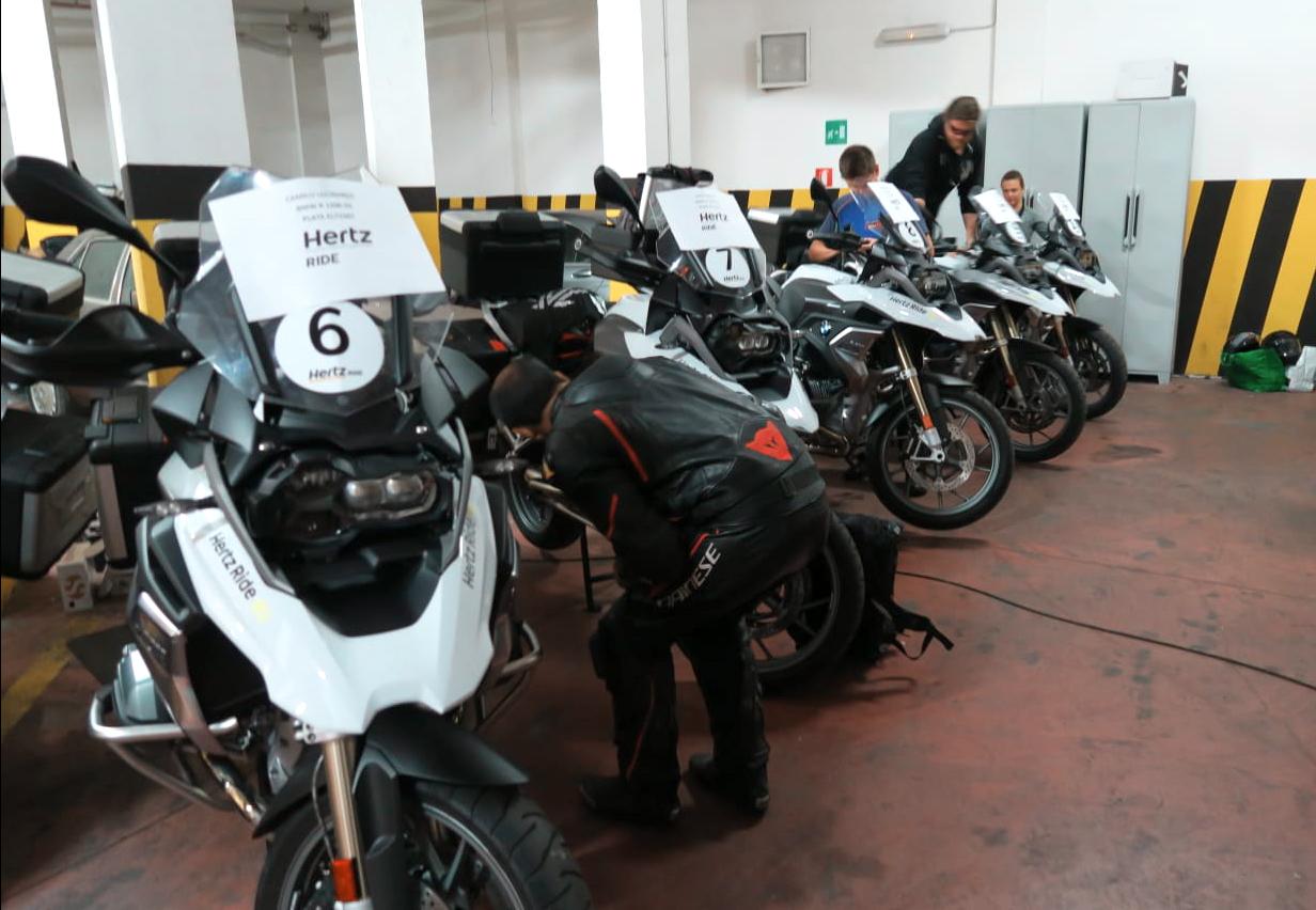 viagem de mota durante 3 dias por Itália