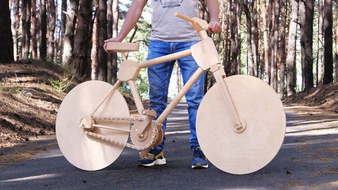 Como construir uma bicicleta apenas com madeira