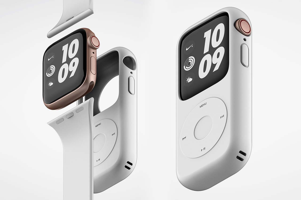 capa que transforma o Apple Watch num Ipod