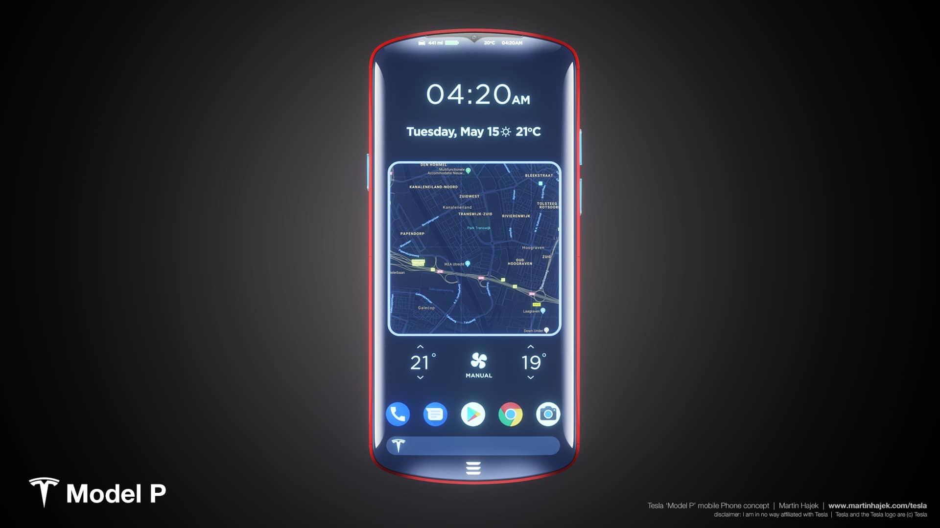 telemóvel da Tesla