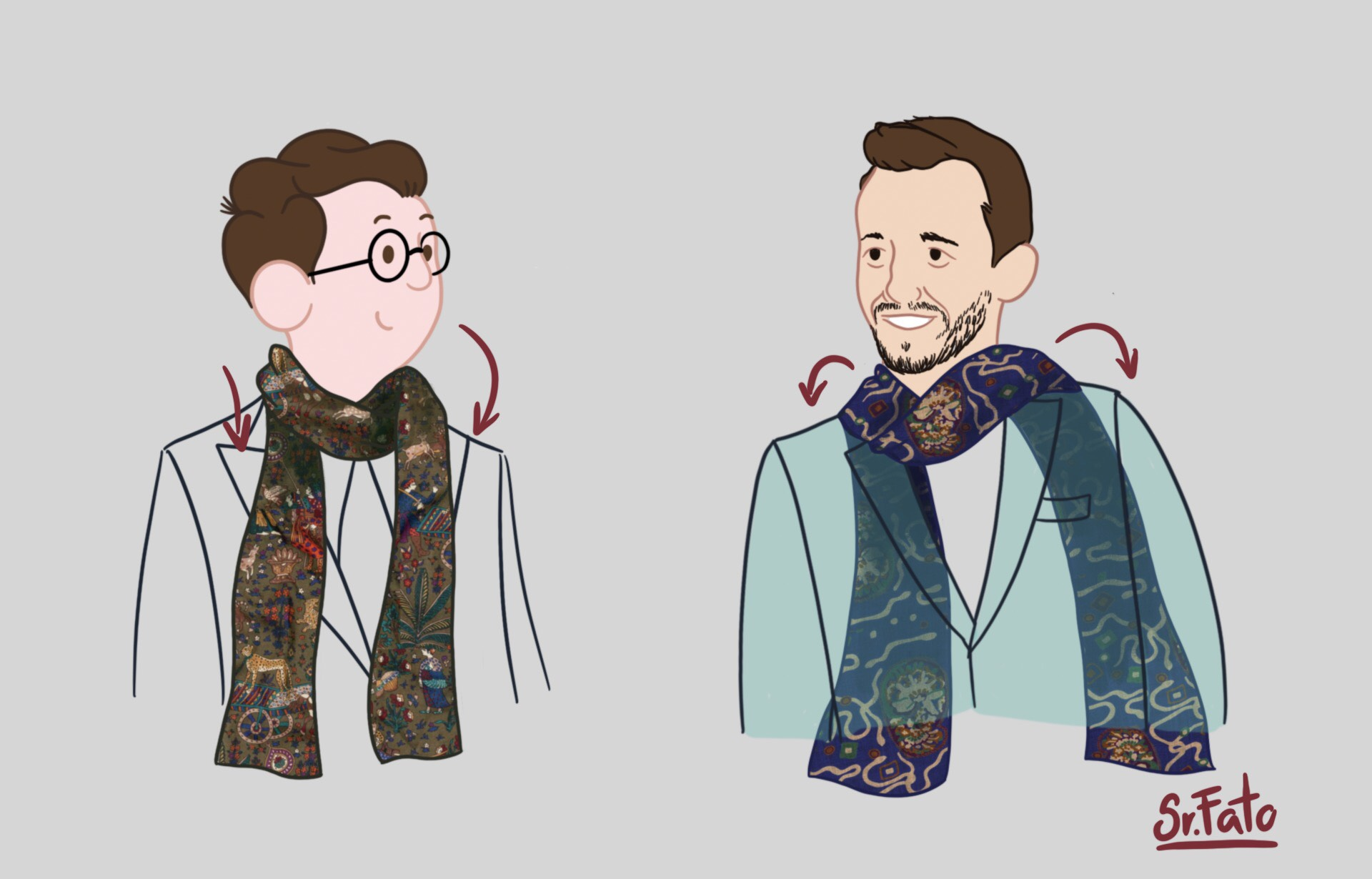 Como e quando usar echarpe