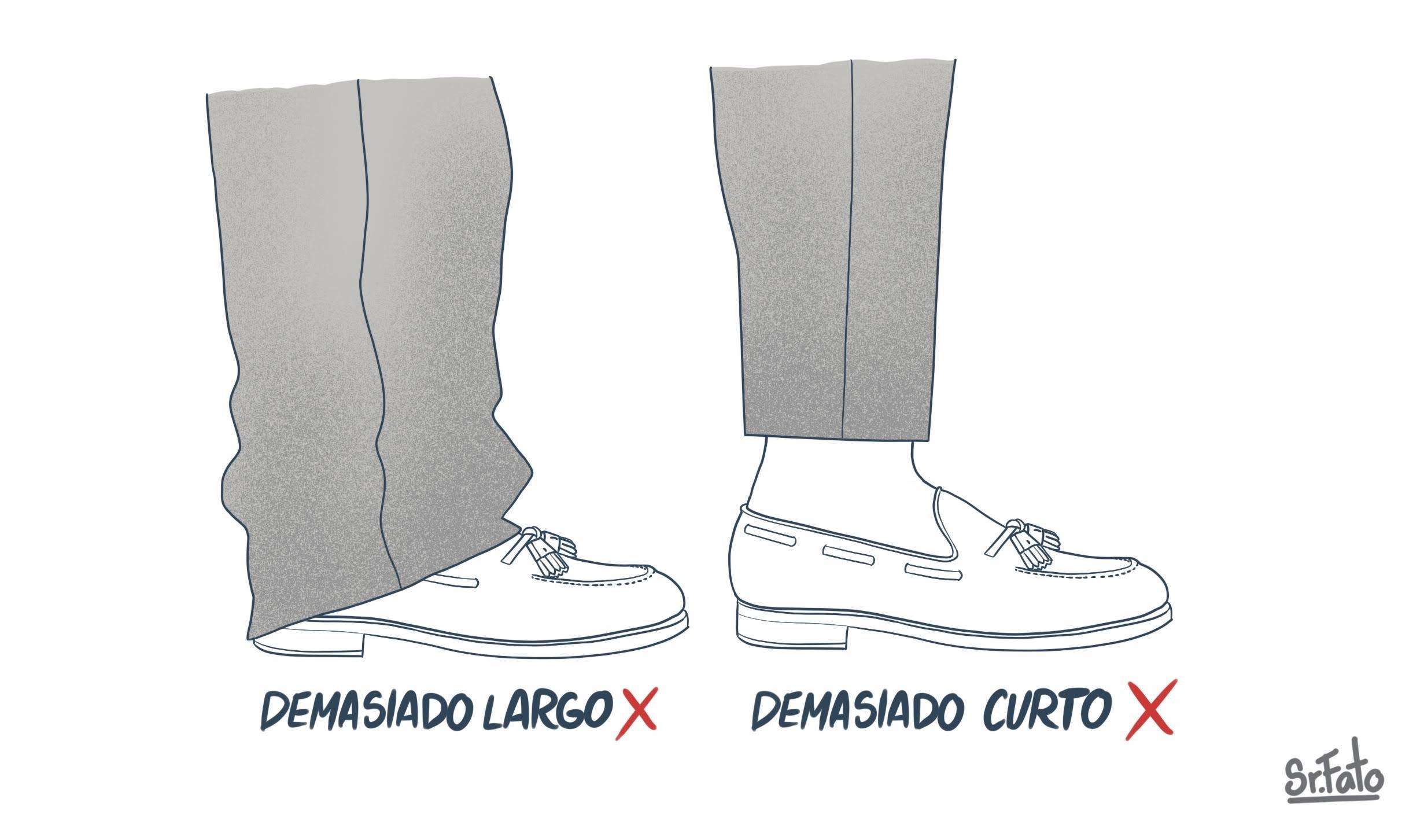 comprimento de calças adequado