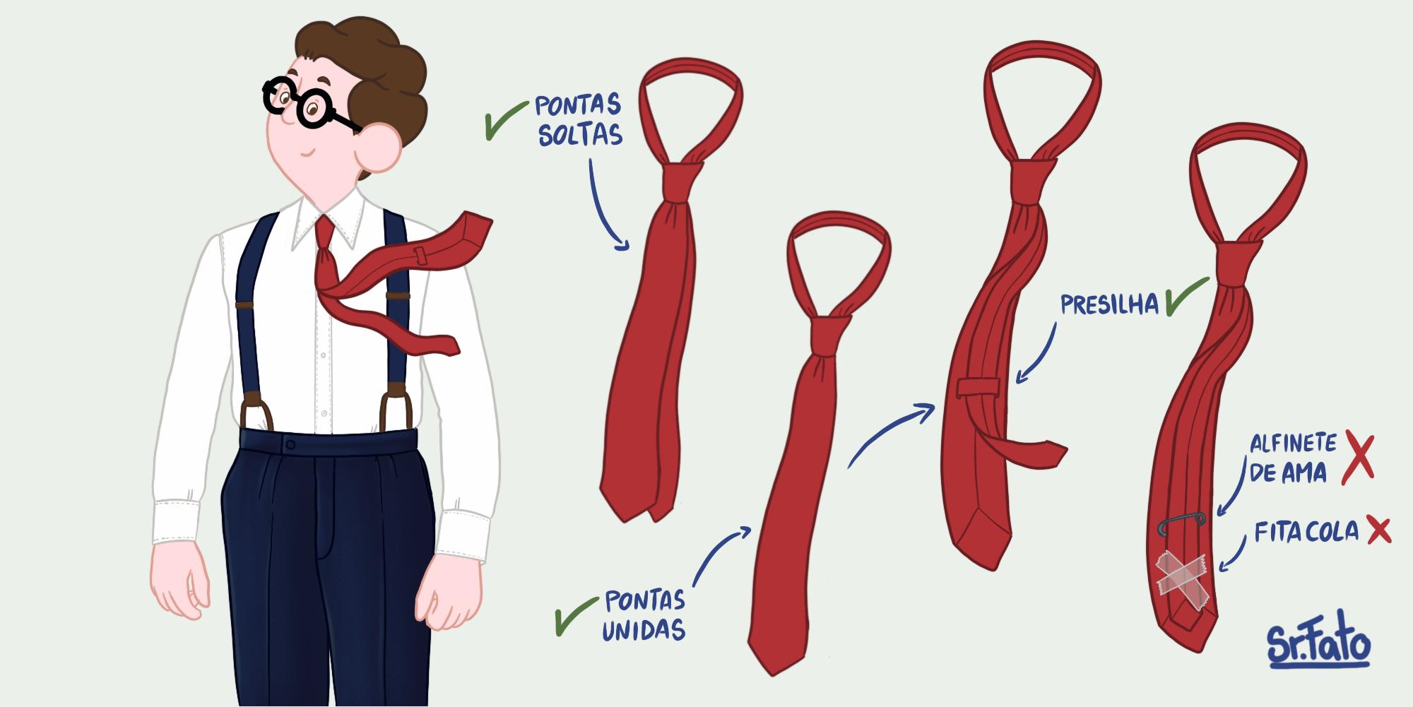 Como usar gravata no tamanho certo?