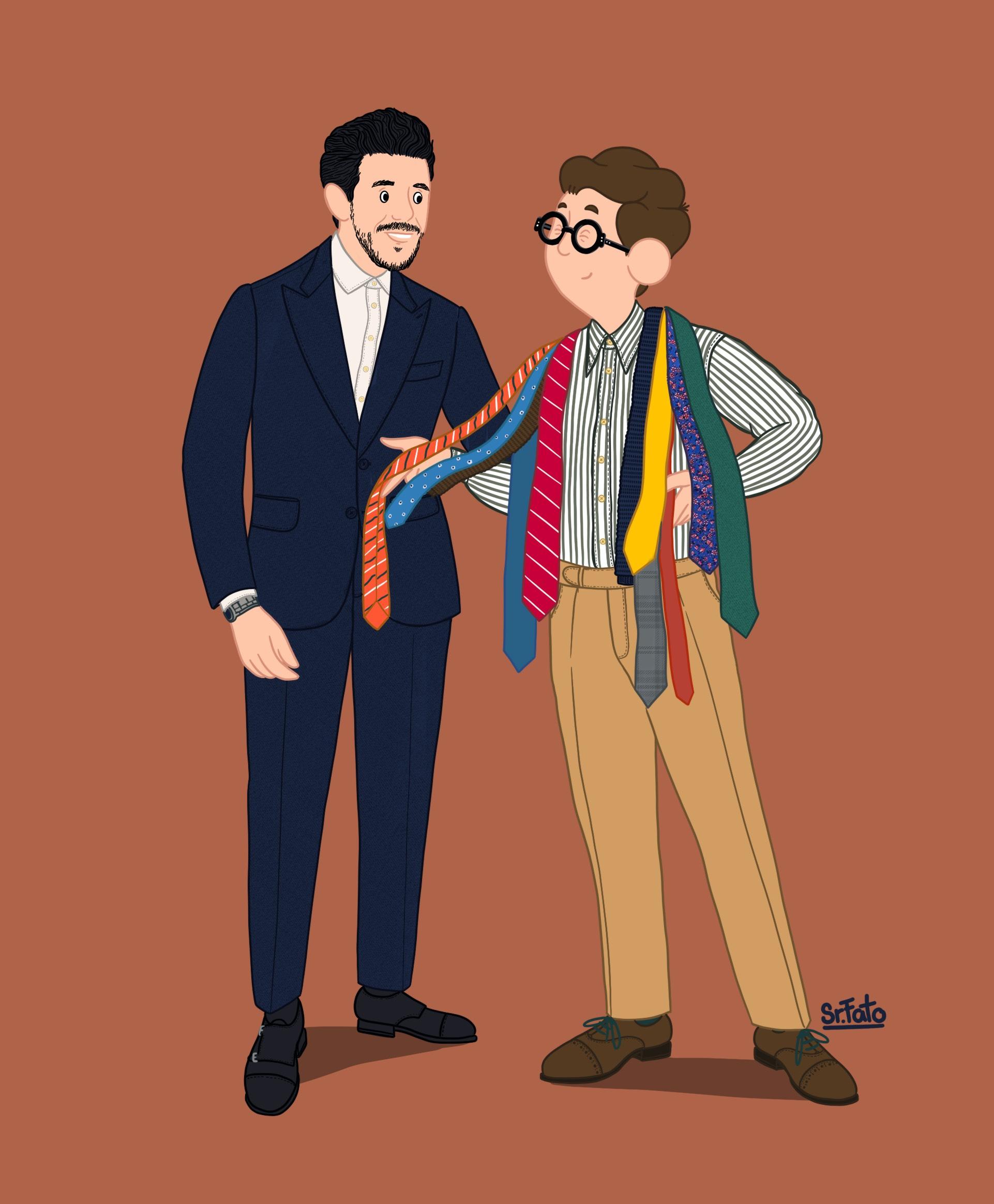 cor da gravata