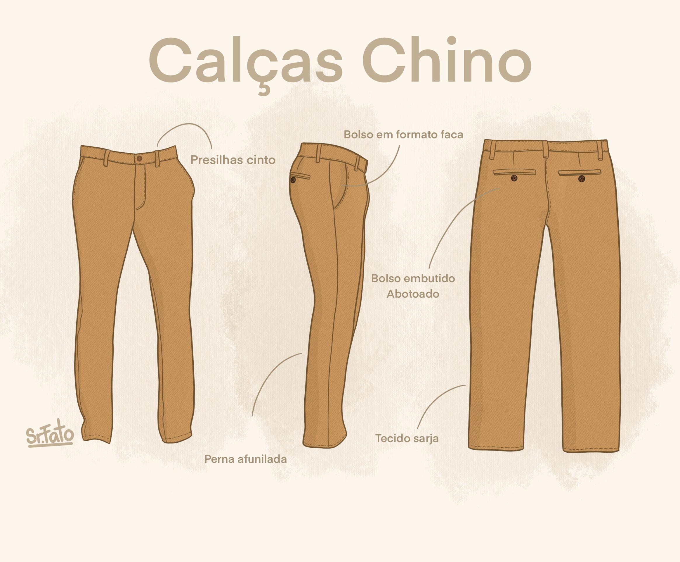 Calças Chino