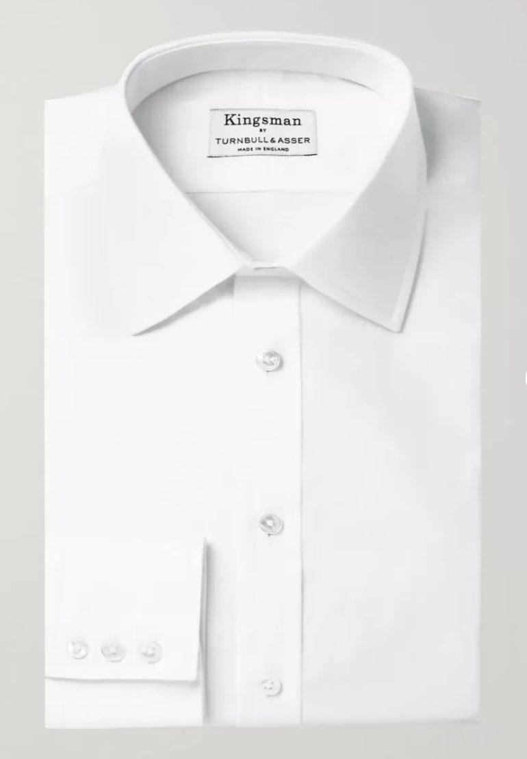 camisa branca kingsman