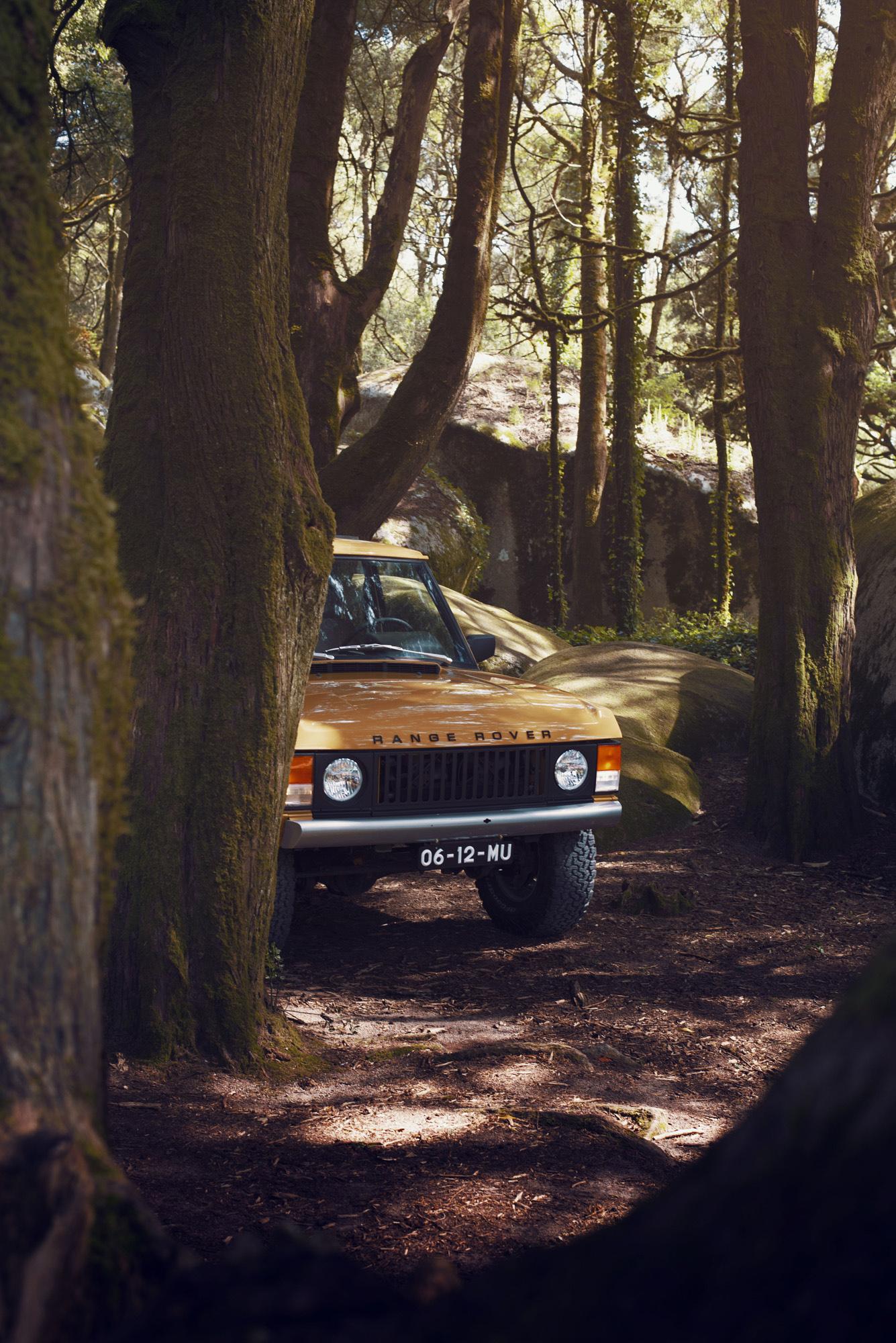 A frente do Range Rover Classic