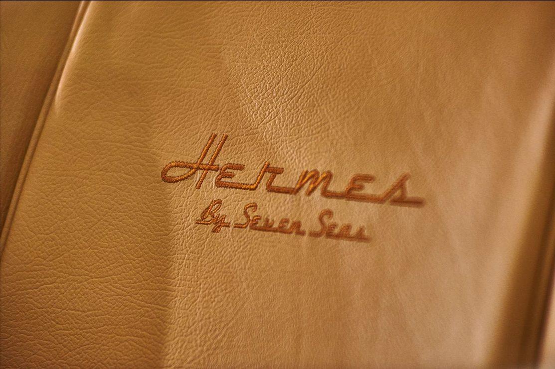 Detalhe dos bancos do Hermes Speedster