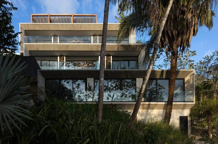 Os volumes da casa Guarumo